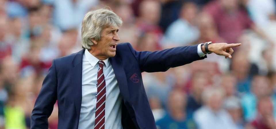 West Ham fans are very unhappy with Pellegrini