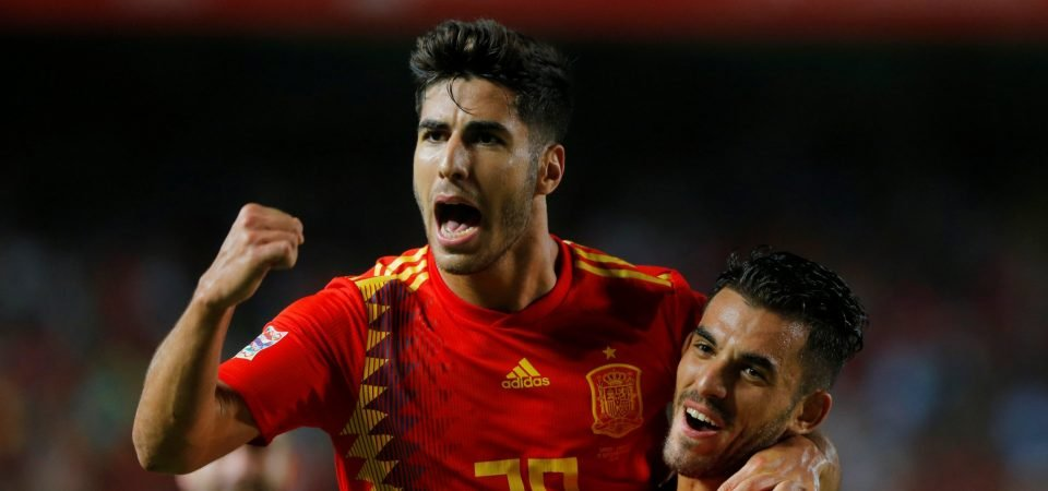 Not a fan: Liverpool fans are not interested in summer deal for Marco Asensio