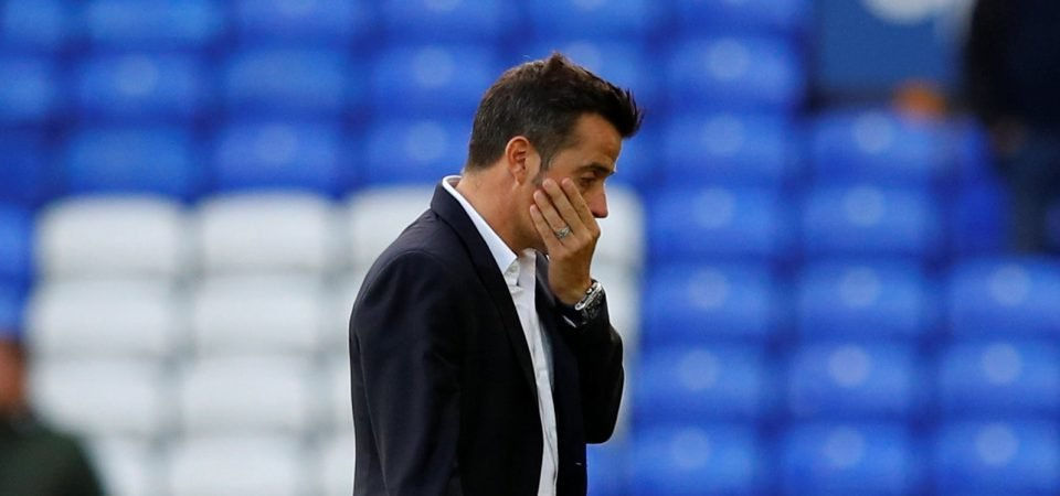 Everton fans unhappy with Silva's comments following defeat to West Ham United