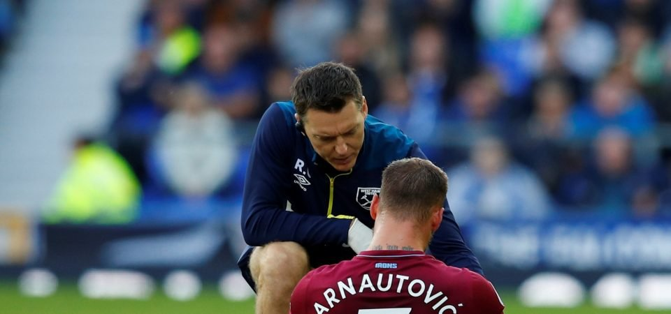West Ham fans on Twitter are worried about Marko Arnautovic's injury