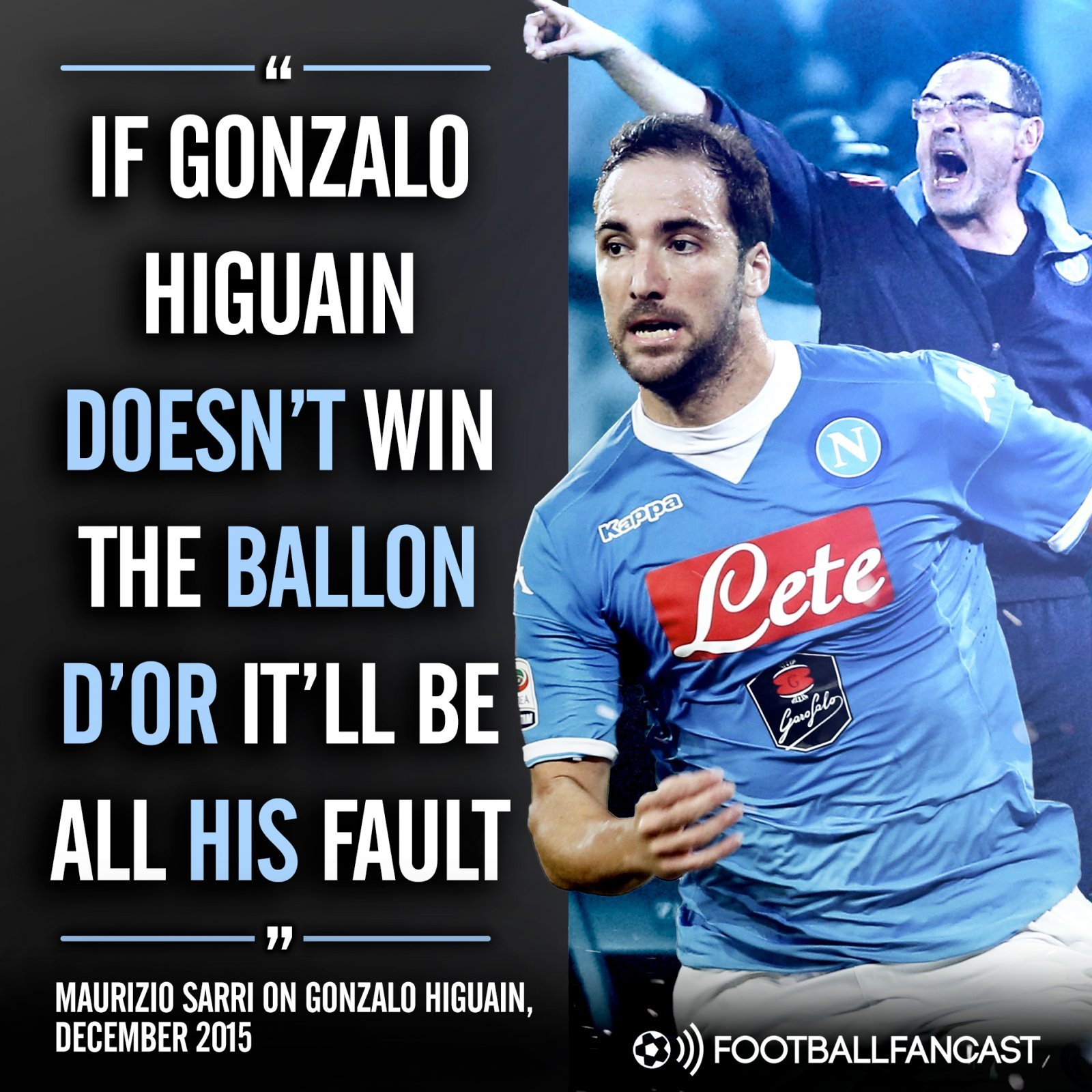 Maurizio Sarri's quotes on Gonzalo Higuain and the Ballon d'Or