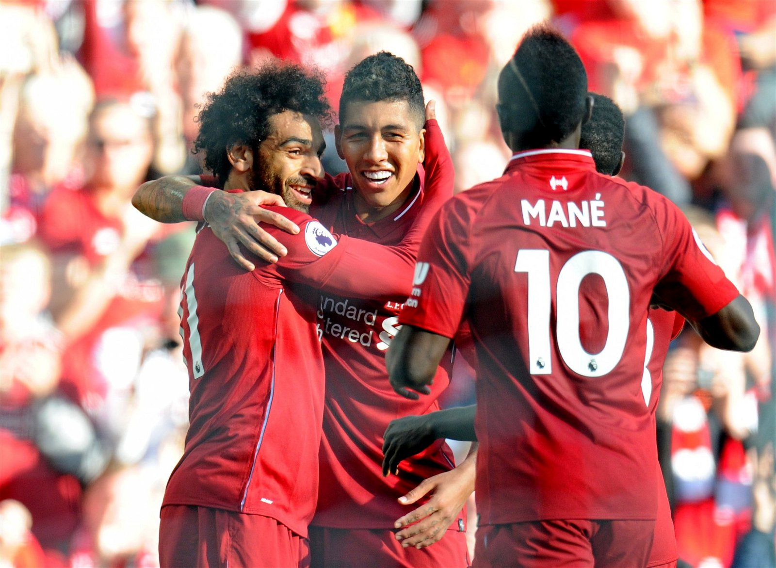 Mohamed Salah Sadio Mane and Roberto Firmino celebrate scoring - Becoming a problem: Klopp must consider last-gasp transfer to replace key LFC man – opinion