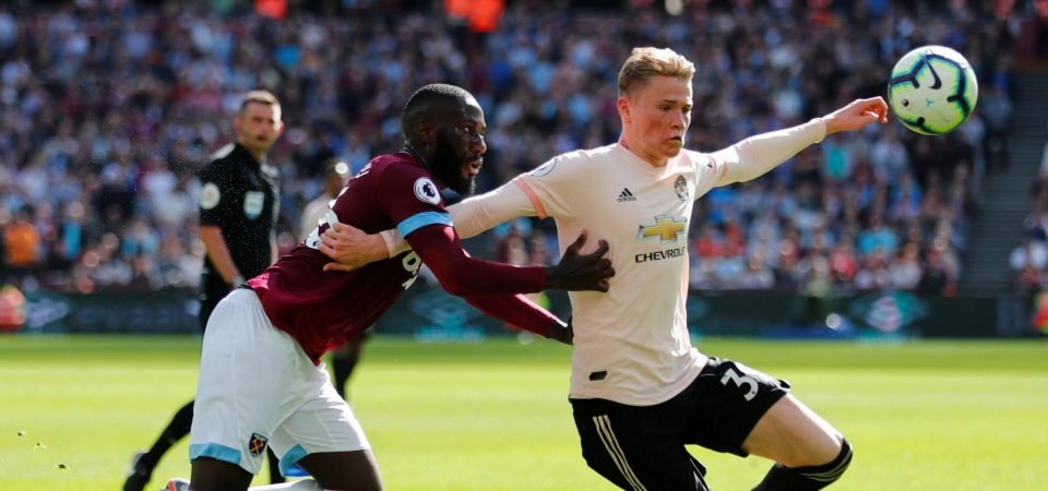 Manchester United fans cannot fathom why Mourinho played McTominay out of position against West Ham United