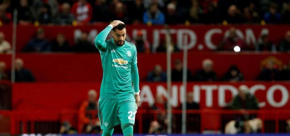 Manchester United fans furious after Sergio Romero red card