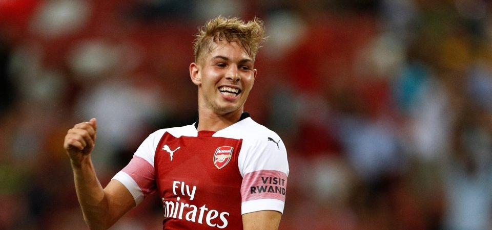 Clue suggests Smith-Rowe could earn Arsenal debut