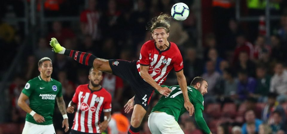 Southampton fans unhappy with Jannik Vestergaard after Brighton collapse