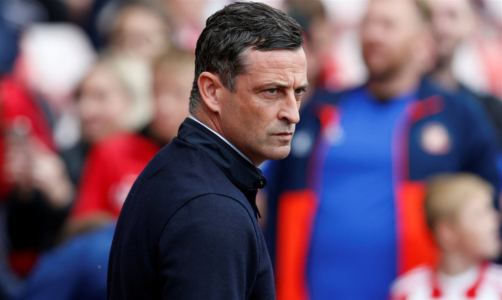 Sunderland manager Jack Ross looks on during Fleetwood Town match