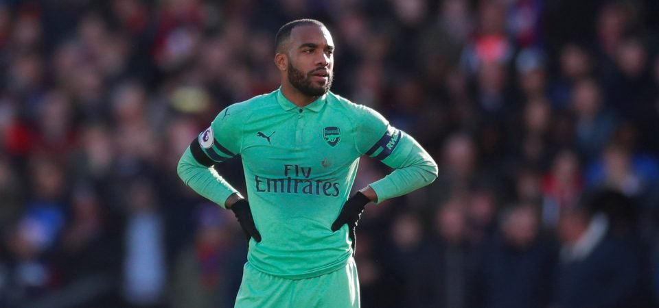 Alexandre Lacazette must offer more to Arsenal if he is to keep Pierre-Emerick Aubameyang out of the team