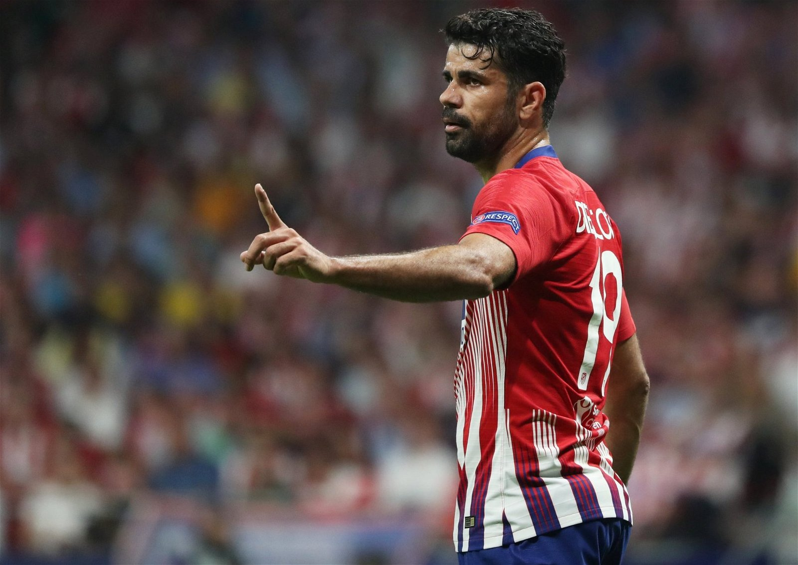 Diego Costa in action for Atletico Madrid against Club Brugge in the Champions League