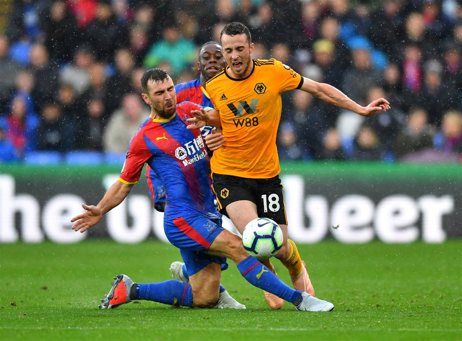 Diogo Jota is fouled