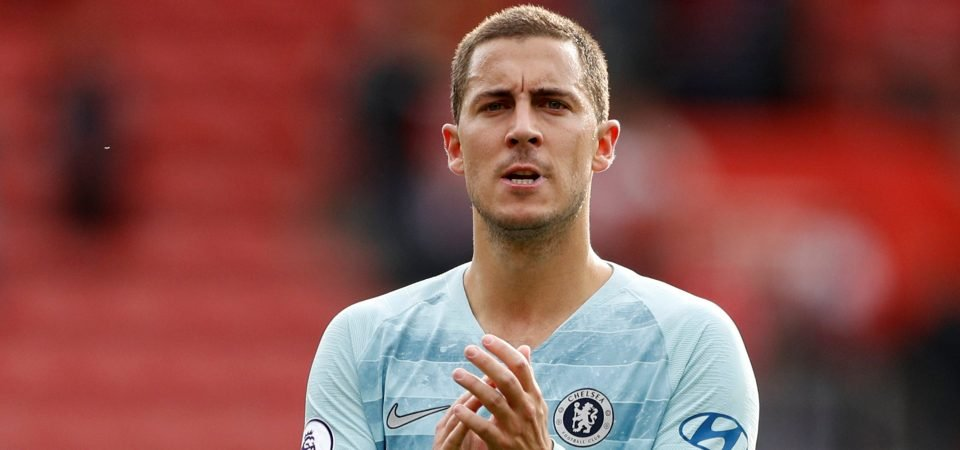 Chelsea fans wonder if Hazard's desire to join Real Madrid would be affected if Conte became boss