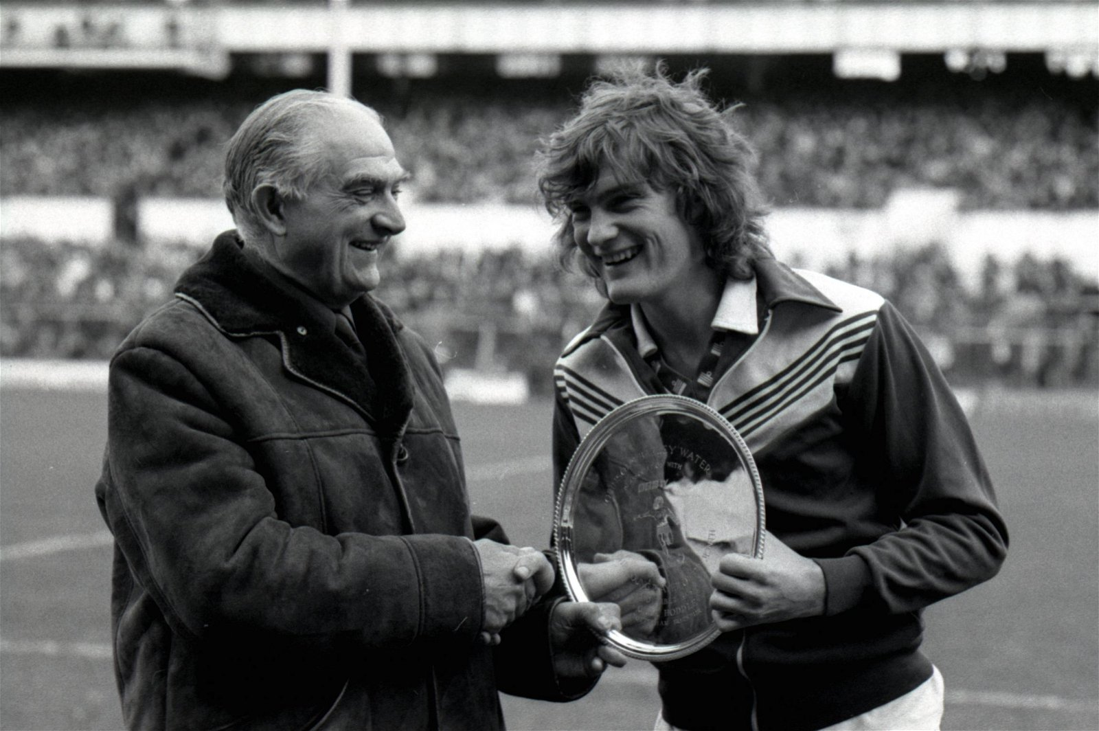 Glenn Hoddle receives the player of the year award