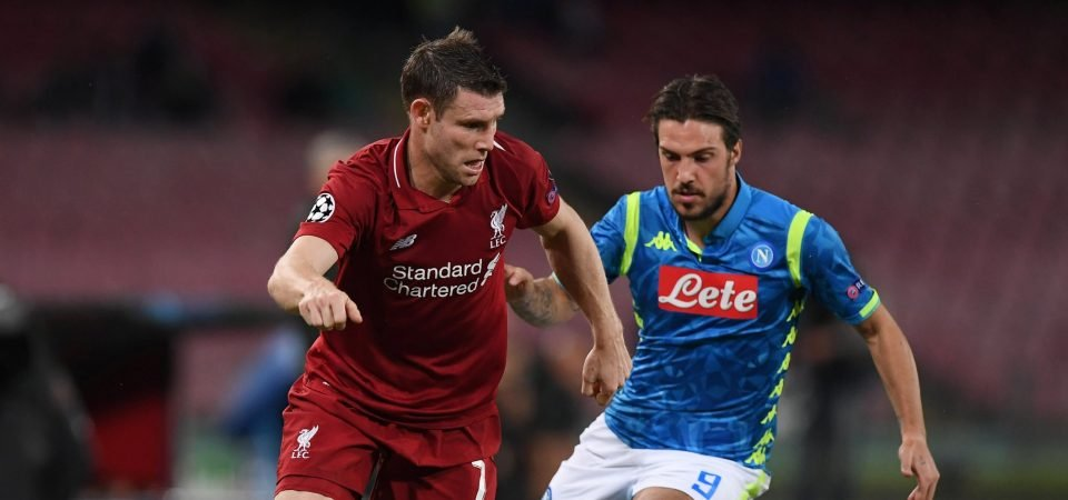 James Milner's performance vs Napoli proves he is Liverpool's most important player