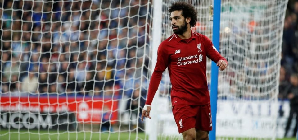Liverpool fans show their delight as Salah finally scores again