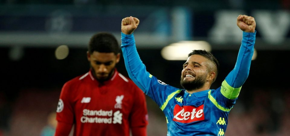 Revealed: 79% of Liverpool fans want Klopp to make a big-money move for Insigne