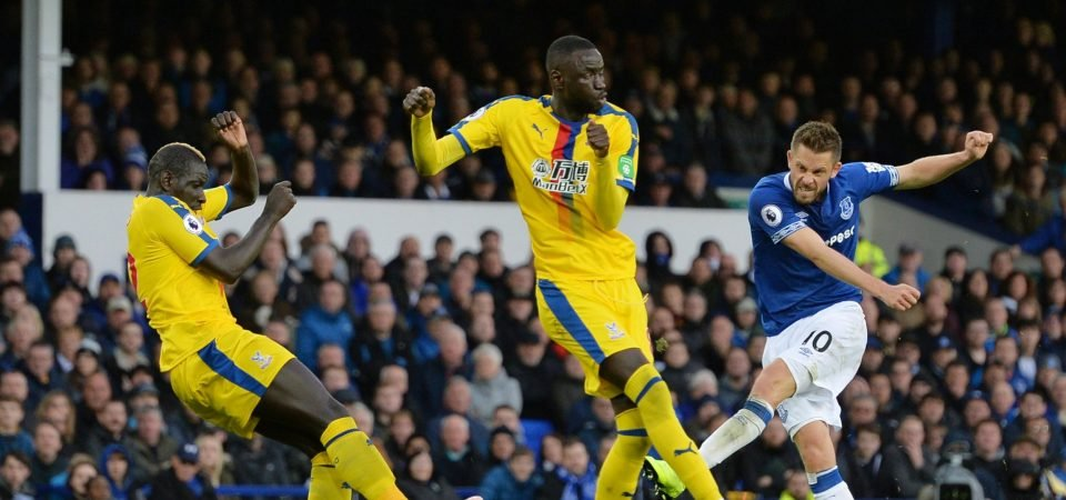 Crystal Palace defender Mamadou Sakho gets slammed by rival fans on Twitter during Everton clash