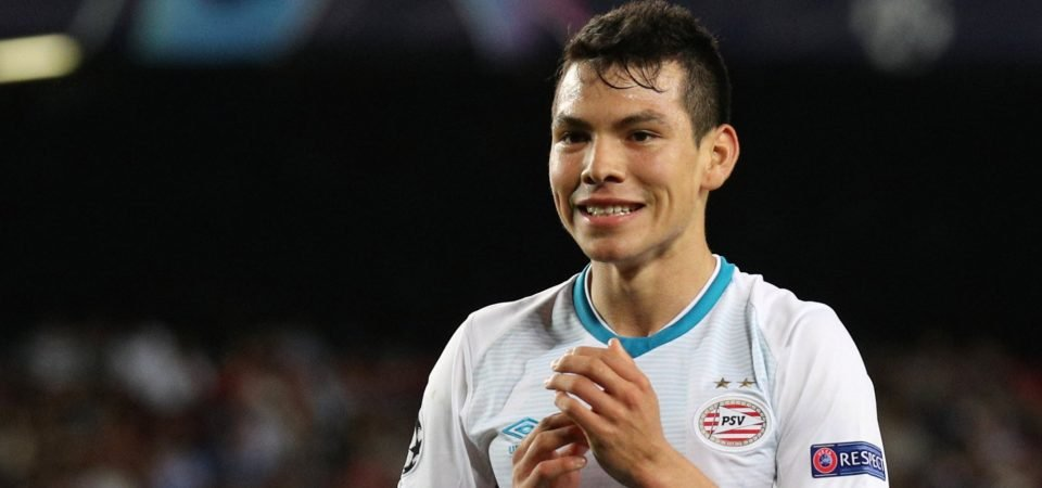 Revealed: 83% of Tottenham fans want to sign Hirving Lozano