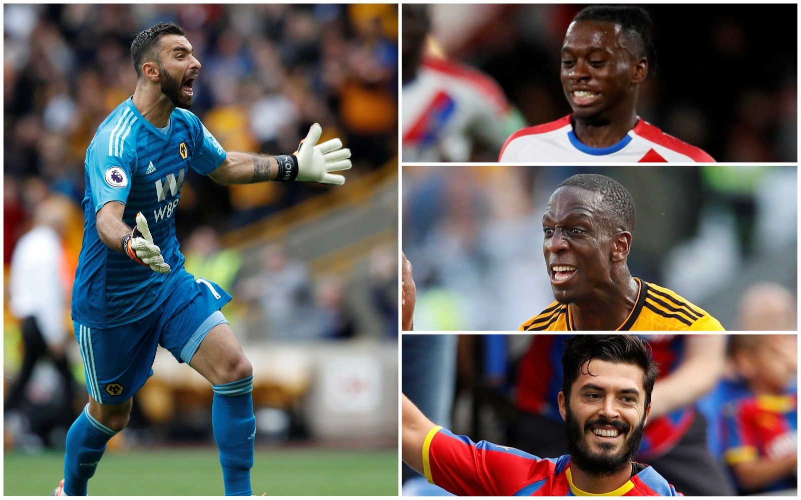 Crystal Palace and Wolves Combined XI - GK and Back Three