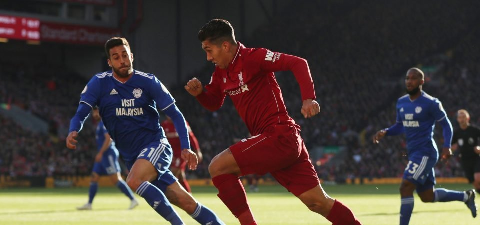Firmino currently the weakest of Liverpool's front three following performance against Cardiff