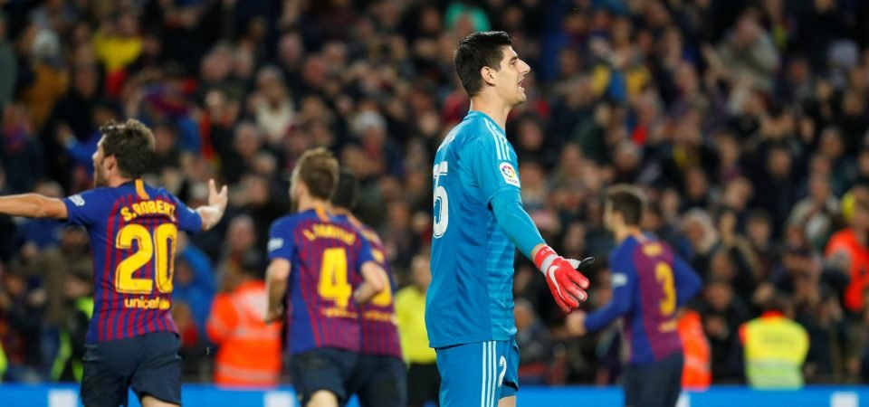 Chelsea fans poke fun at Courtois following his miserable El Clasico debut