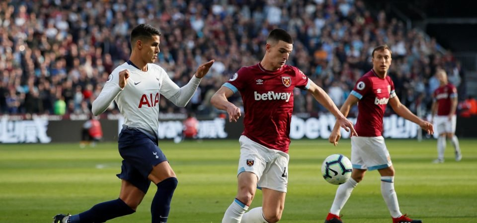 West Ham United fans speculate after Declan Rice appears to delete tweet