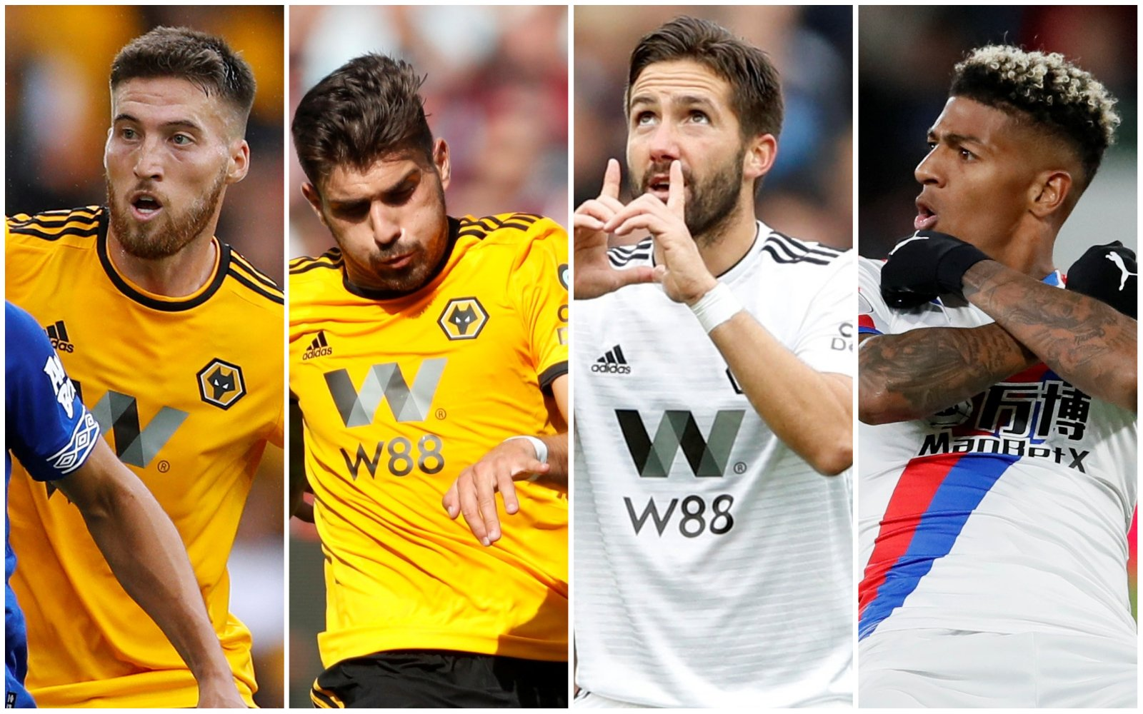 Palace and Wolves combined XI - Wingbacks and Midfield