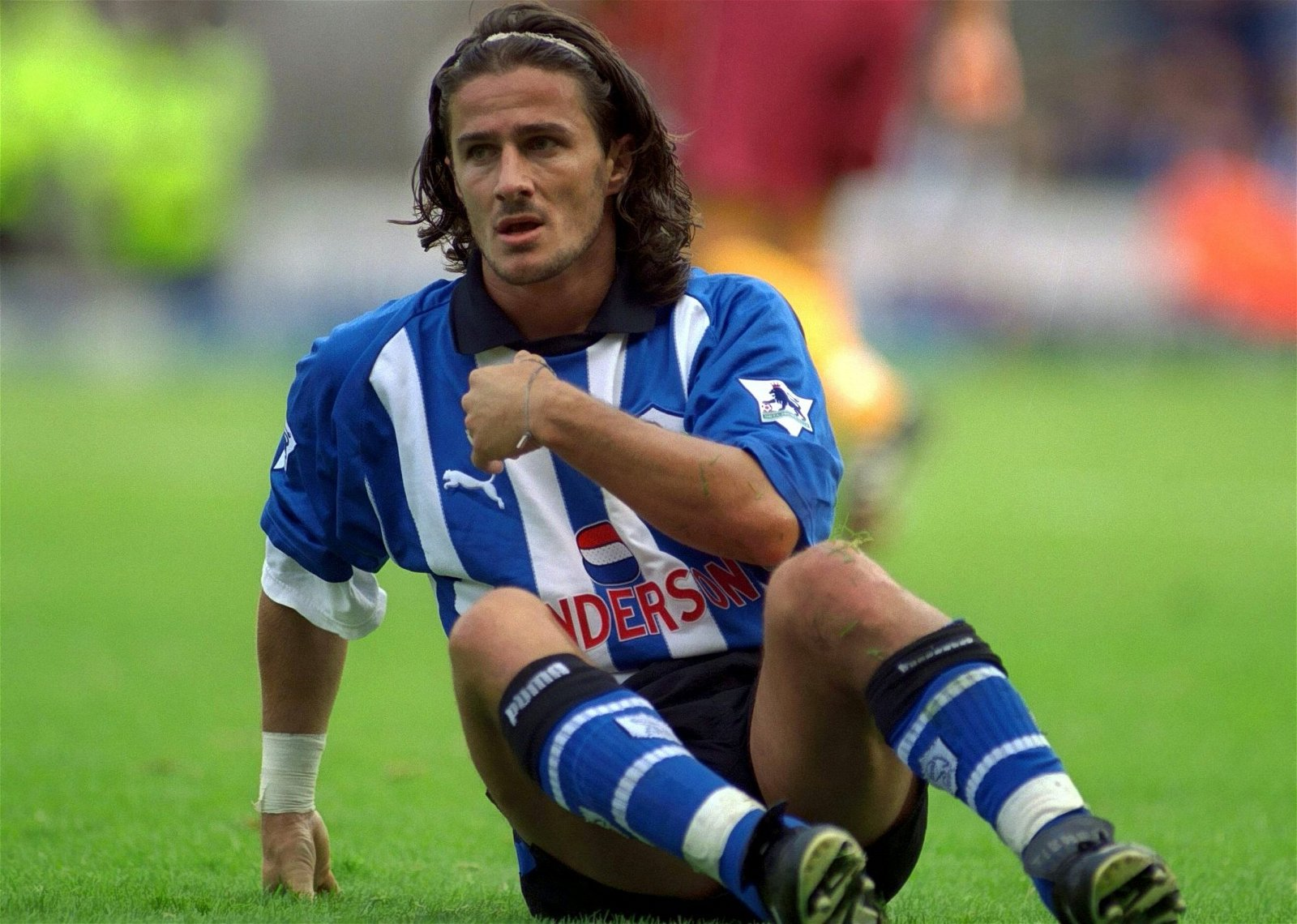 Benito Carbone playing for Sheffield Wednesday in the 1990s
