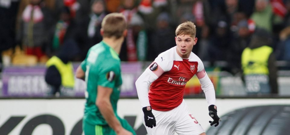 Arsenal fans react to Emile Smith-Rowe's impressive showing against Vorskla Poltava