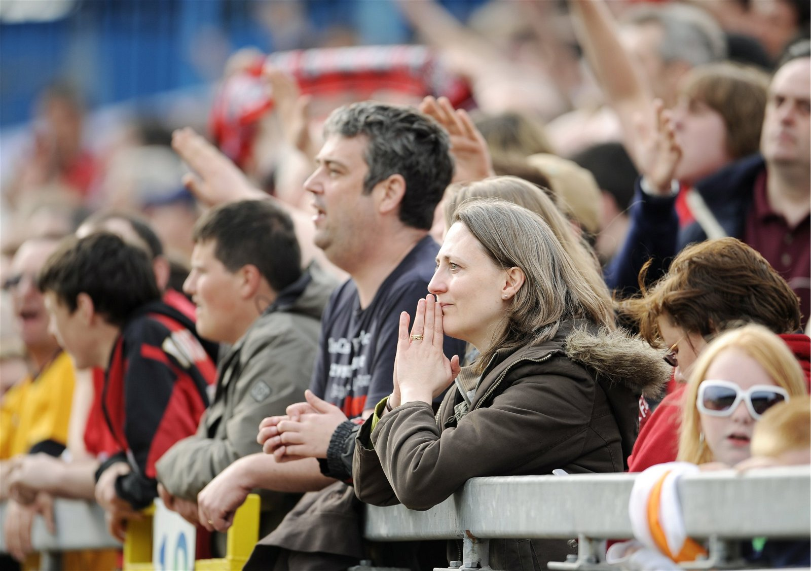 AFC Bournemouth fans during a Coca-Cola Football League One match with Carlisle United in May 2008
