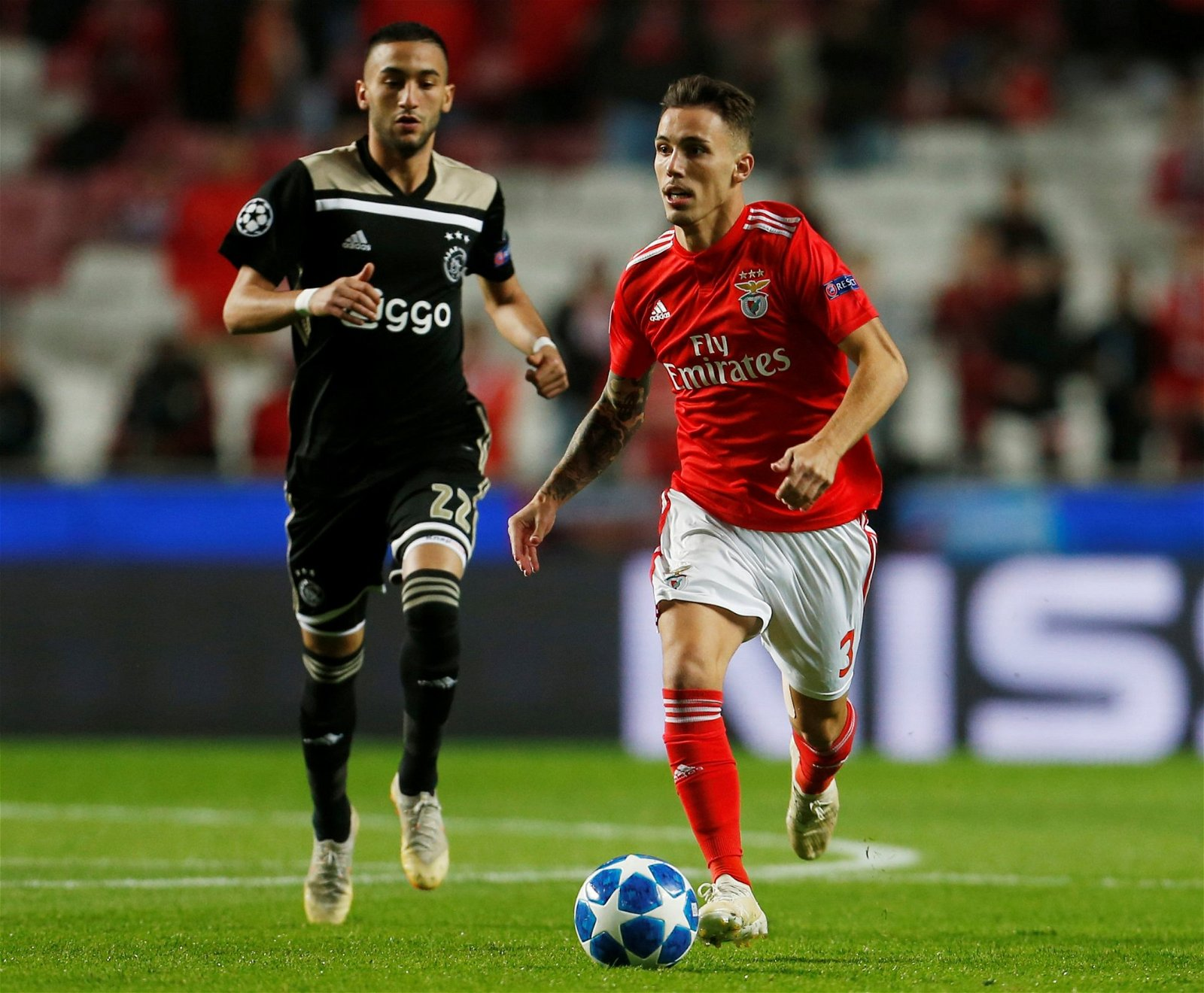 Alejandro Grimaldo in action for Benfica - £25.2m-rated ace, Ramsey replacement: Perfect signings for Arsenal's reported transfer plans