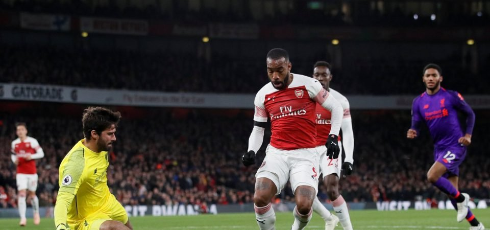 Arsenal fans on Twitter are loving Lacazette after his goal against Liverpool