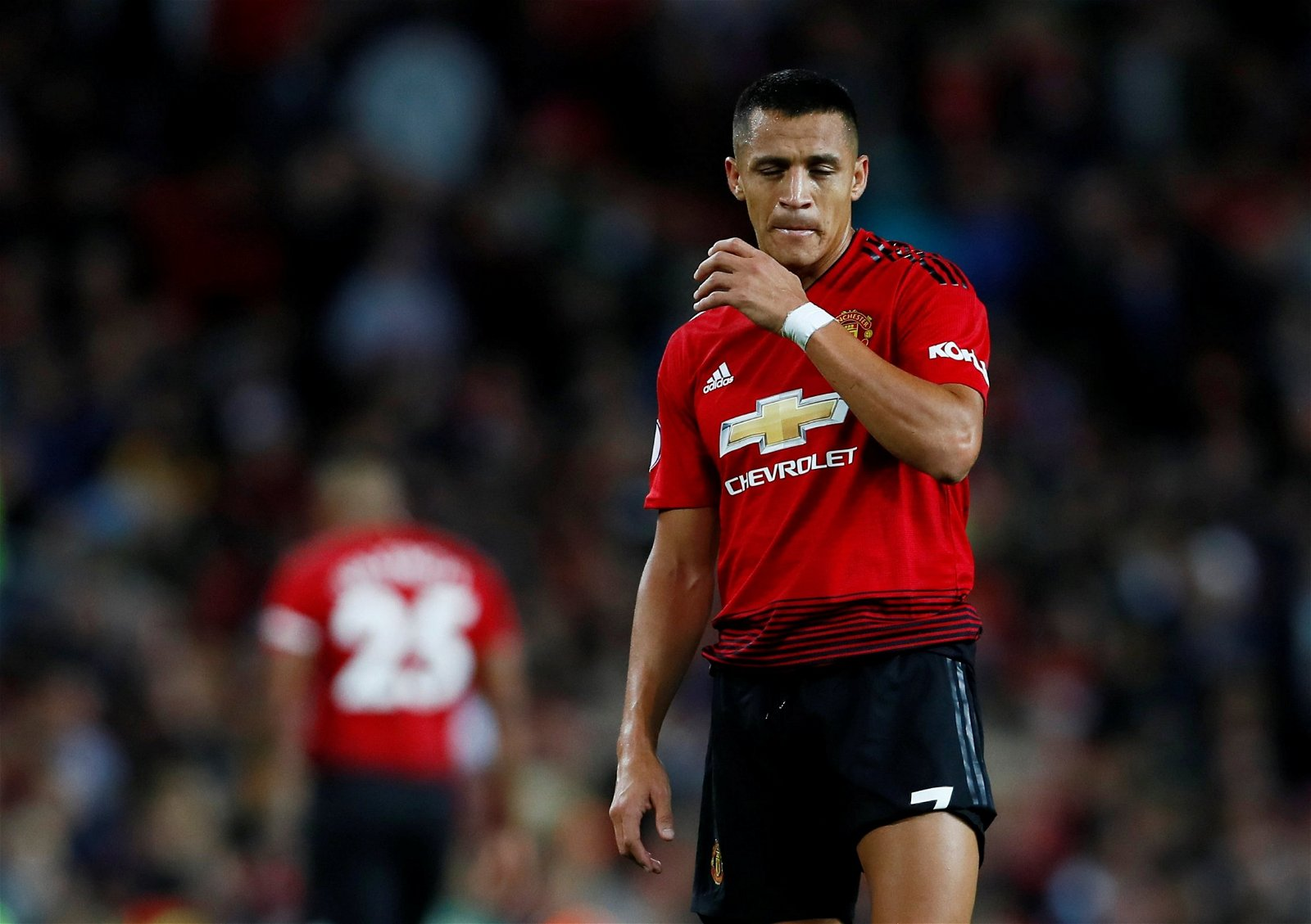Alexis Sanchez looks dejected