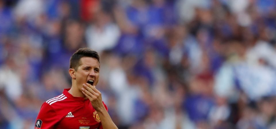 Man United fans were not impressed with Ander Herrera on Sunday