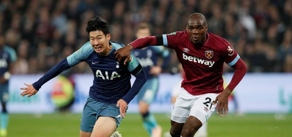 West Ham United fans give up on Ogbonna following EFL Cup display against Tottenham Hotspur