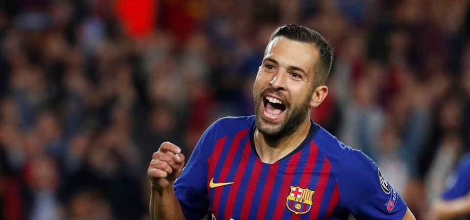 Jordi Alba could be the solution to Arsenal's left-back woes