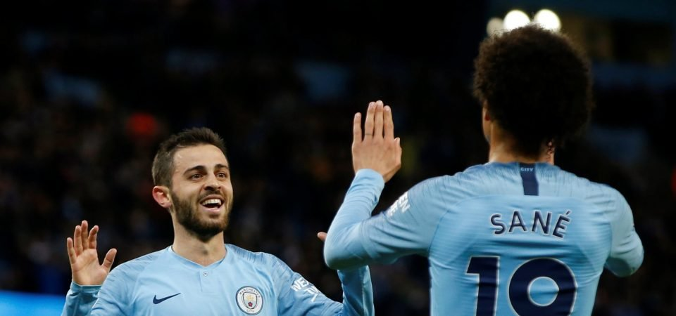 Bernardo Silva has been City's best player this season and Leroy Sane will suffer as a result