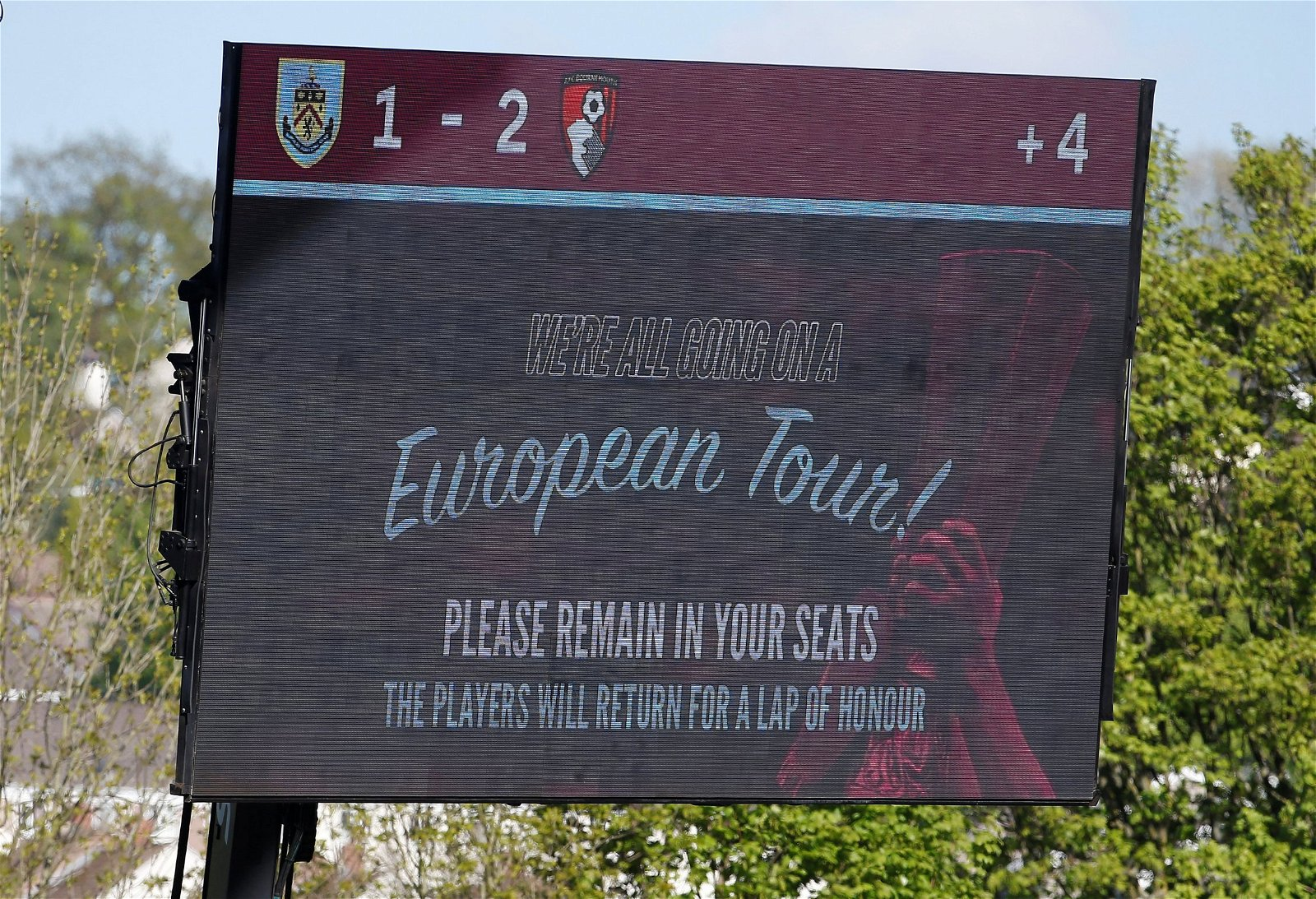 Bournemouth beat Burnley, but the hosts qualified for Europa 2018