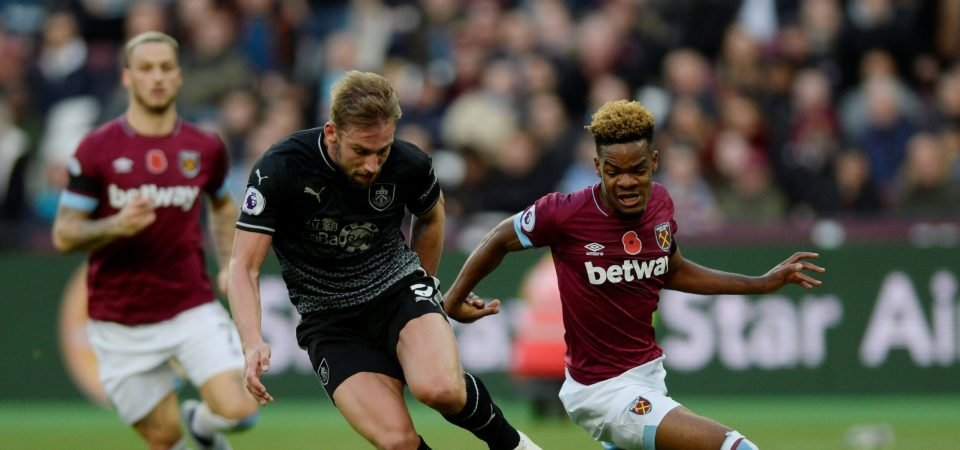 West Ham fans stunned by Diangana display vs Burnley