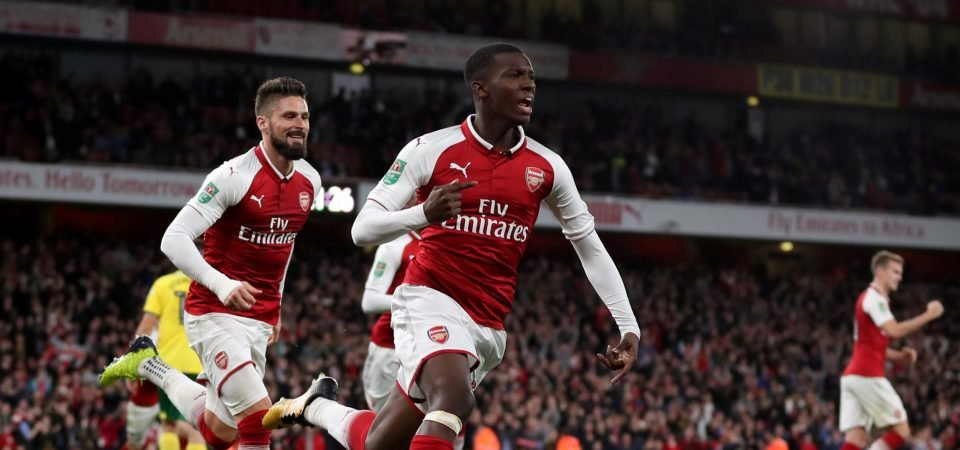 Revealed: Just 54% of West Brom fans would support a move for Eddie Nketiah