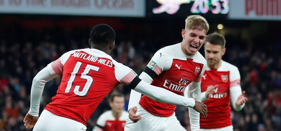 Arsenal fans react to Emile Smith-Rowe's performance vs Blackpool