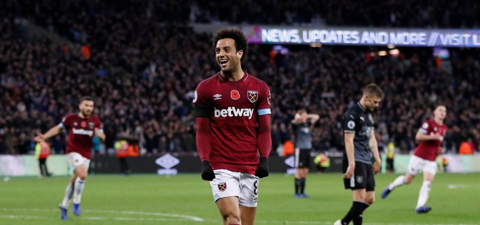 West Ham fans were delighted with Felipe Anderson's improved performance against Burnley