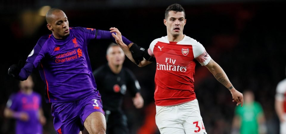 Granit Xhaka finally looks comfortable playing in Arsenal's midfield