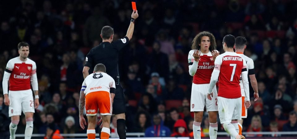 Arsenal fans see the silver lining in Matteo Guendouzi red card
