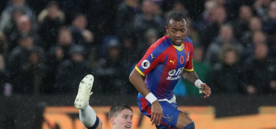 Crystal Palace's Jordan Ayew looked effective in attack alongside Christian Benteke