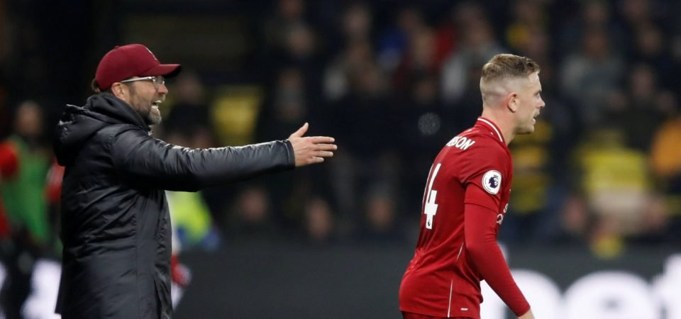 Liverpool fans don't want Henderson to start vs PSG