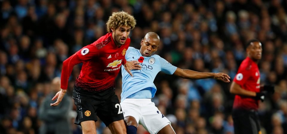 Mourinho's use of Marouane Fellaini in the Manchester derby epitomised his negative approach