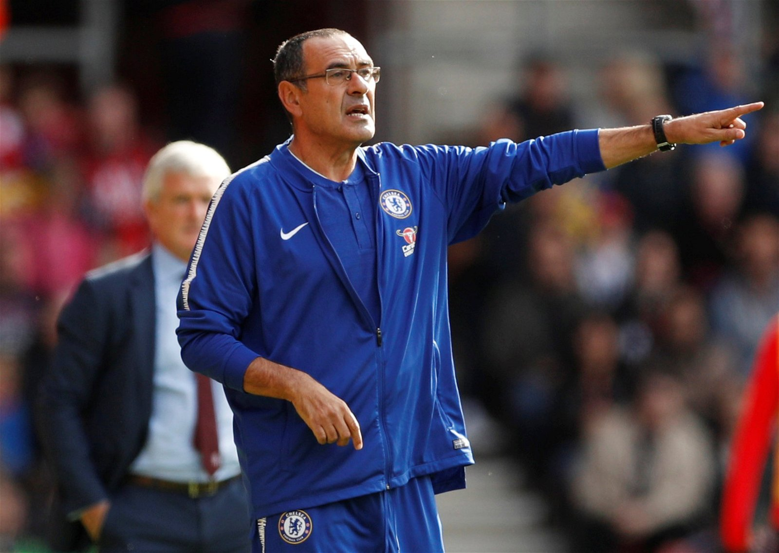 Maurizio Sarri on the touchline - Sarri's Chelsea & Emery's Arsenal still very far away from being the real deal