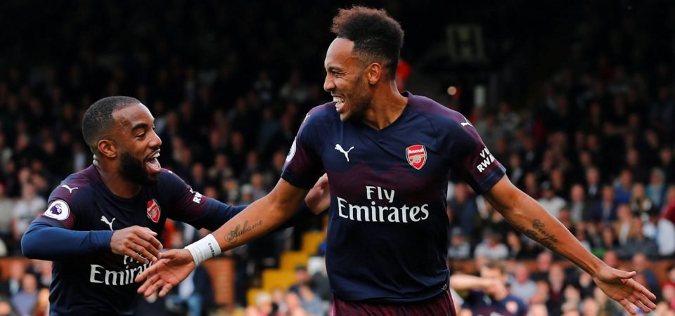 Arsenal's Pierre-Emerick Aubameyang showered with praise after decisive goal
