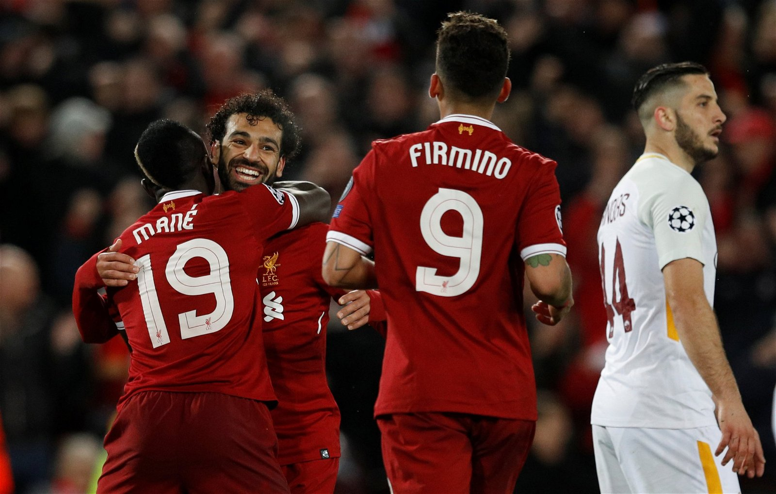 Sadio Mane, Mohamed Salah and Roberto Firmino