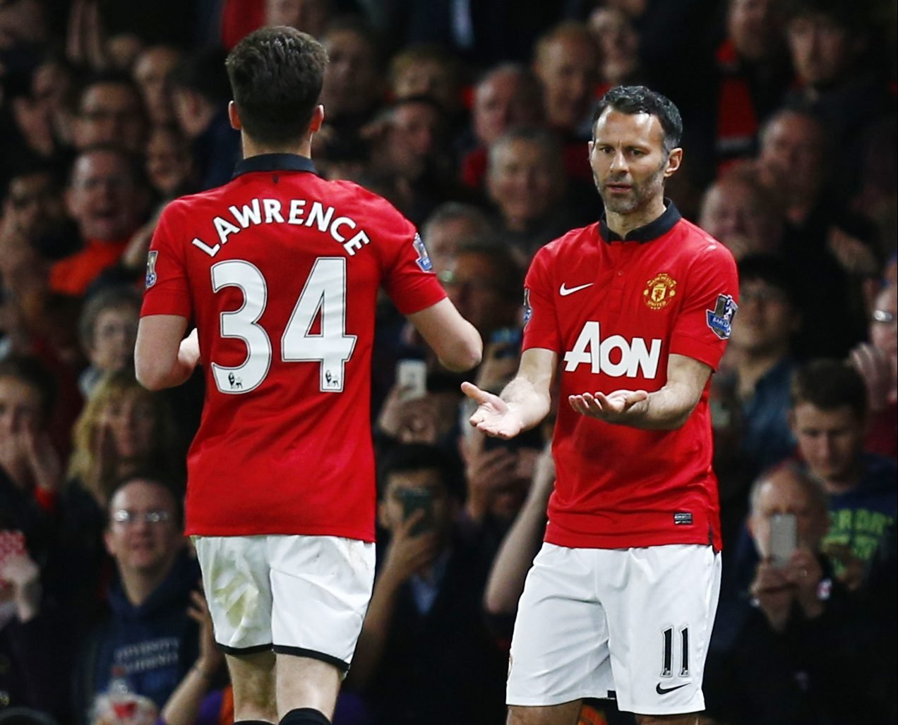 Tom Lawrence and Ryan Giggs